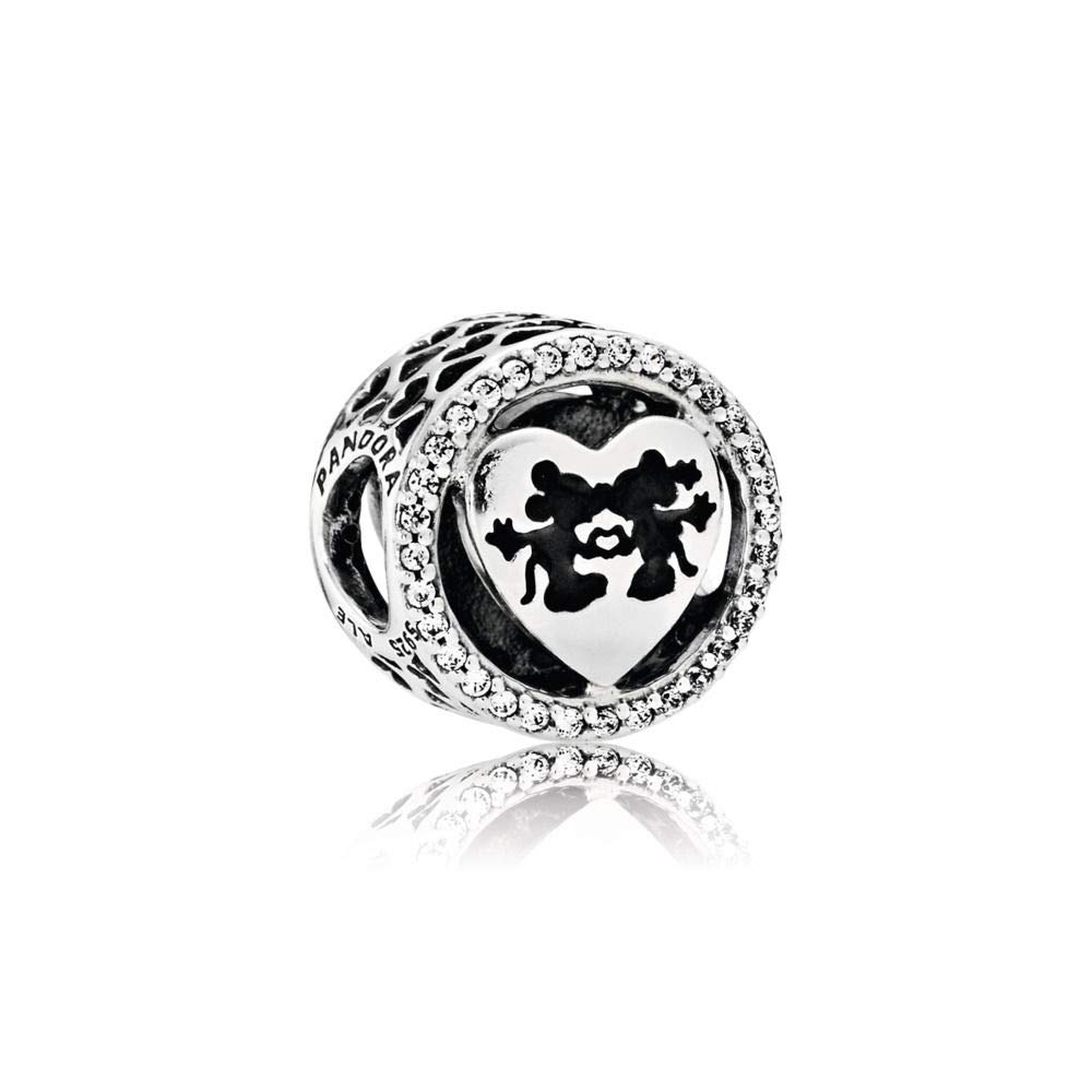 best service 34bae 413f8 Pandora Disney Mickey & Minnie Love Silver Charm 791957CZ ...