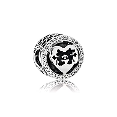 31d8d713c Image Unavailable. Image not available for. Color: Pandora Sterling Silver  Disney's Mickey & Minnie Love Charm 791957CZ