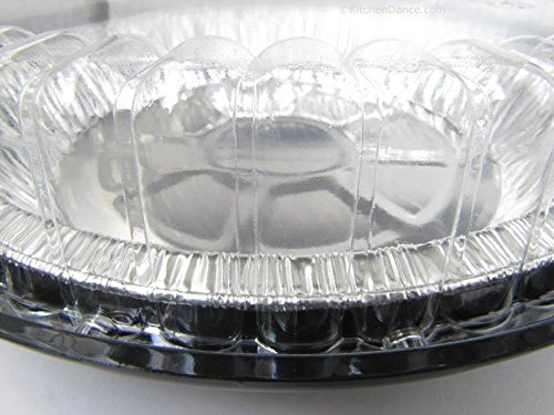 9 Inch Low Dome Plastic Disposable/Reusable Pie Carrier #WJ40 (80)