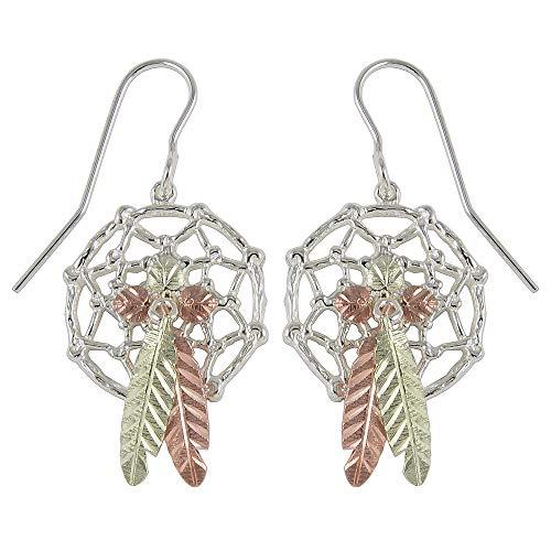 Black Hills Silver Dreamcatcher Earrings with Shepherd Hooks