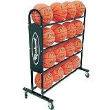 Markwort 16 Ball Capacity Basketball Trolley, Black