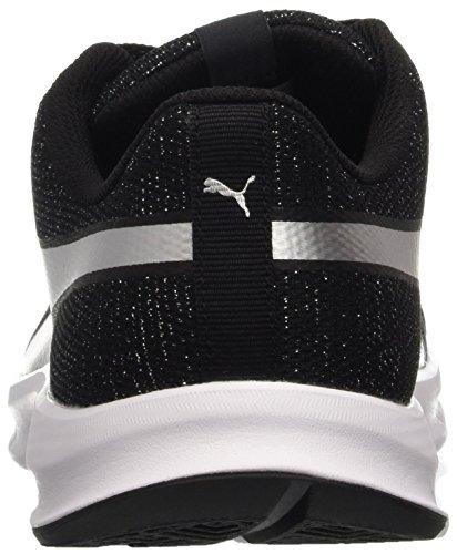 Puma Flexracer Gleam Wns, Sneaker Donna, Nero/Argento, 37.5