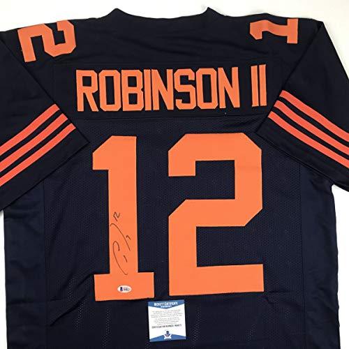 Autographed/Signed Allen Robinson II Chicago Blue Football Jersey Beckett BAS COA