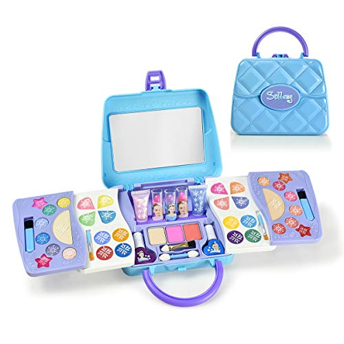 SOLLASY 48 PCS Real Makeup Palette Set-Kids Makeup Kit for Girls – Fold Out Makeup Palette-Great Birthday Gift for…
