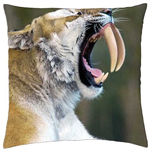 (sabretooth tiger - Throw Pillow Cover Case (18)