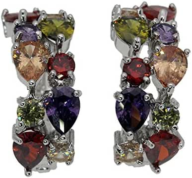 Rhinestone Gemstones Sets 925 Sterling Silver Peridot Amethyst Garnet Morganite