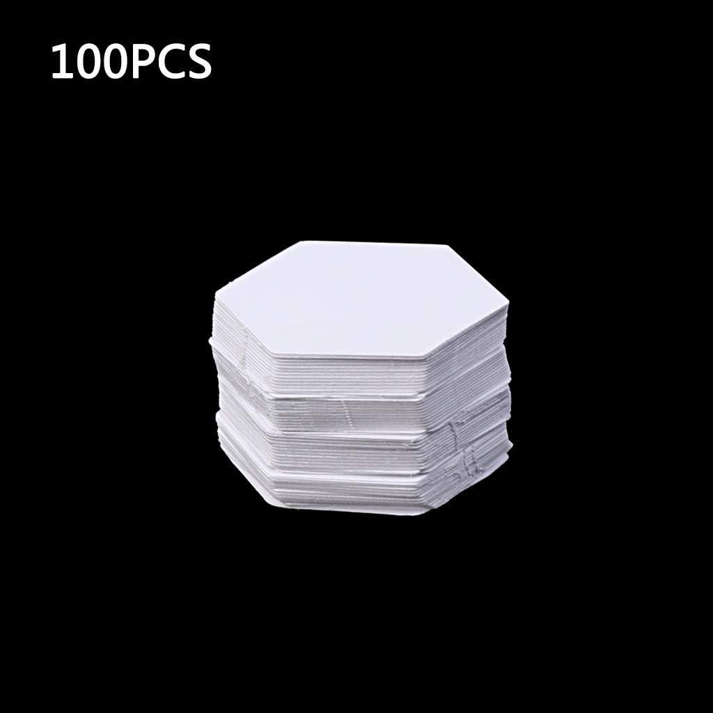 Gwxevce 100 Pcs Hexagone Mod/èles pour Patchwork Papier Quilting Couture Artisanat DIY Six Tailles Blanc