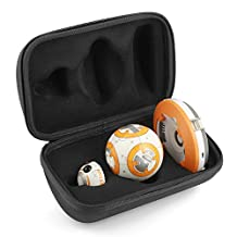 BOVKE Hard EVA Shockproof Carrying Case for Sphero Star Wars BB-8 Droid Storage Travel Case Cover Bag Protective Pouch Box, Black