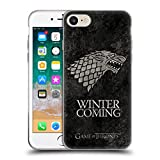 Official HBO Game of Thrones Stark Dark Distressed Sigils Soft Gel Case for iPhone 7 / iPhone 8