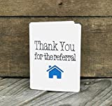 Thank You for the Referral - Set of 5 cards - for Realtors - Vertical
