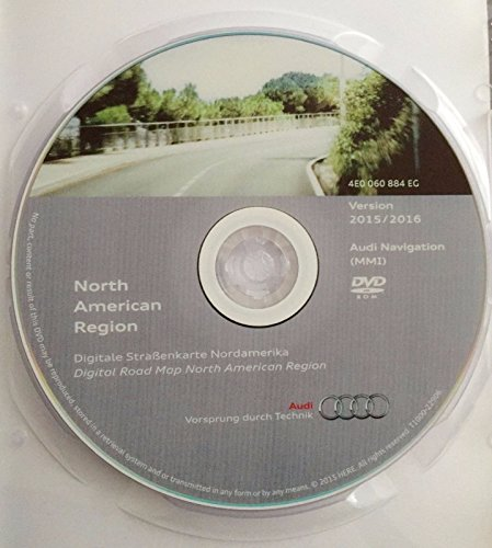 2016 AUDI MMI 2G NAVIGATION SOFTWARE UPDATE CD DVD NORTH AMERICA USA + CANADA GPS ROAD MAP