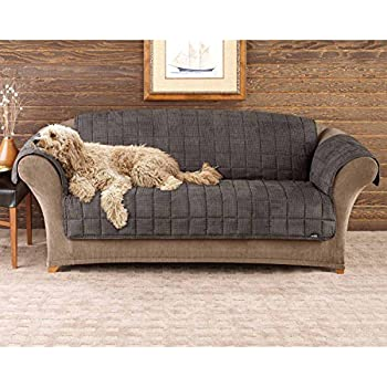 surefit deluxe pet cover sofa slipcover sable sf39227 home kitchen. Black Bedroom Furniture Sets. Home Design Ideas