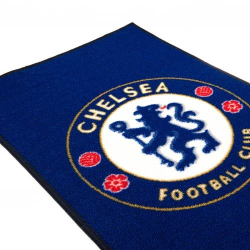 Chelsea F.C. Rug- bedroom rug- approx 80cm x 50cm- 100%Polyamide- machine washable- on a header card- official licensed product by Chelsea F.C.