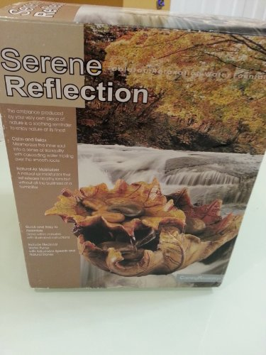 Reflections Tabletop Fountain - EnviraScape Serene Reflection Tabletop Relaxation Water Fountain Soothing Sound