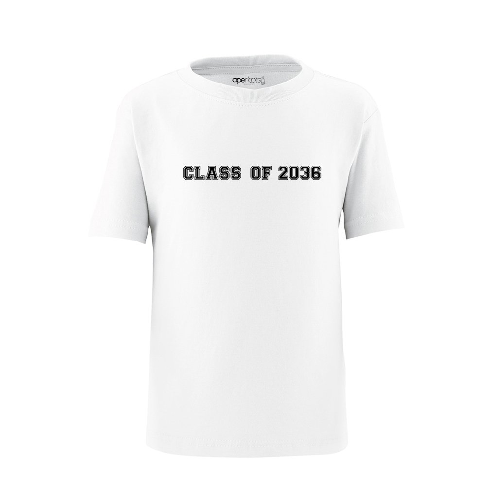 Apericots Class of 2036 Cute Funny Soft Cotton Children/'s Toddler Kids Tee Shirt