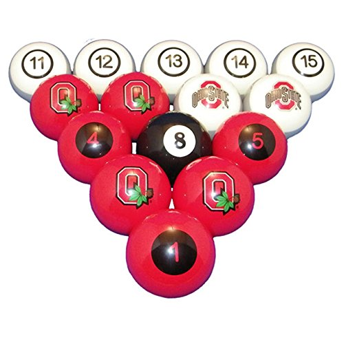 Wave 7 Technologies Ohio State Billiard Ball Set - NUMBERED by Wave 7 Technologies Corp