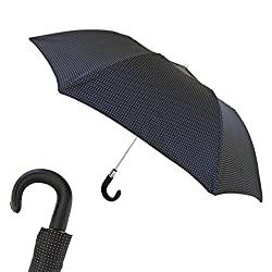 Pasotti Ombrelli Bespoke Folding Umbrella, Leather Handle Cn5 P