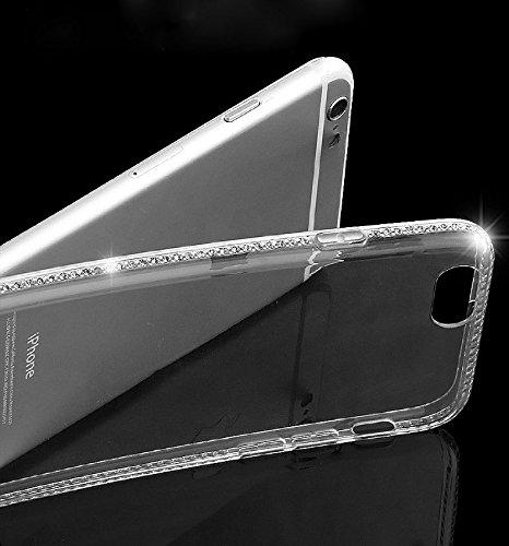 Funda tapa trasera para Galaxy S7 Edge, Vandot Funda 360 Doble Delantera + Trasera Transparente Silicona Gel Integral para Galaxy S7 Edge, Two Cristal Crystal Centelleo Cover Funda Caja del TPU Silico TPU diamant-2