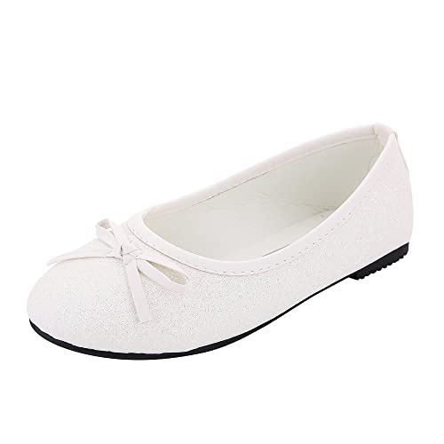 outlet store sale 7a8c9 df967 Kitiin Bling Bling Glitter Slip On Toddler Girls Ballet Shoes, Bow Tie  Wedding Gifts Flats