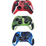 Controller Protective Case for Xbox One, CALLANY 3 Pack Soft Anti-Slip Silicone Controller Cover Skins with Thumb Grips Set