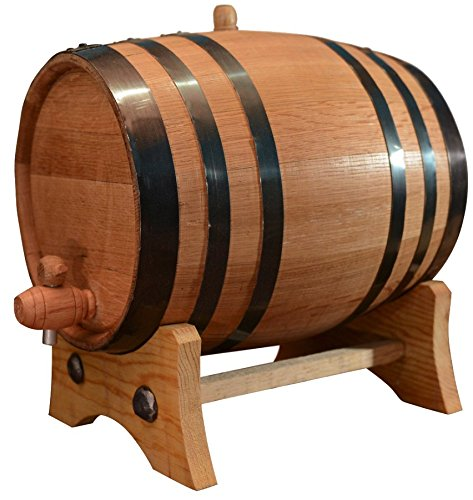 20-Liter American Oak Barrel | Handcrafted using American White Oak | Age your own Whiskey, Beer, Wine, Bourbon, Tequila, Hot Sauce & - Bourbon Ale Barrel