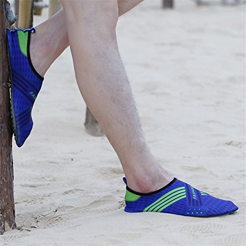 SAGUARO Men and Women Beach Swim Surf Yoga Water Shoes, Aqua Socks Blue