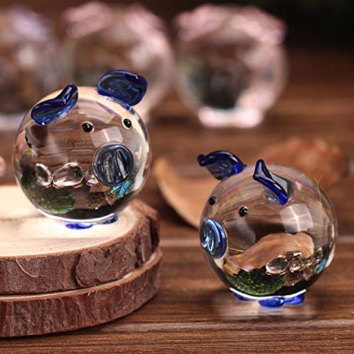 Antaram Figurines Miniatures - 2pcs Box Couple Lovely Pig Home Decoration Cute Mini Crystal Glass Lover 39 S Piggy Animal Crafts - Kids For -