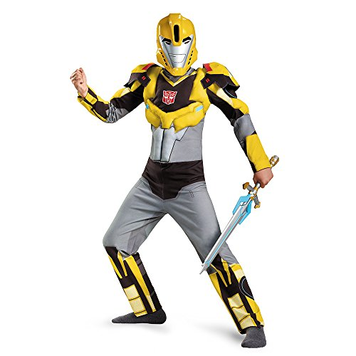 Classic Bumblebee Girls Costumes (Bumblebee Animated Classic Muscle Costume, Medium (7-8))
