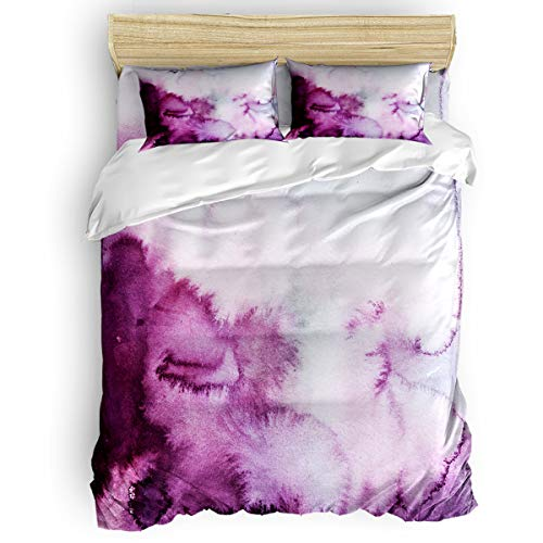Halo Daybed Bedding - YEHO Art Gallery Lightweight Beding Sets 4 Pcs Duvet Cover Set,Purple Halo Kids Bed Sheet Set for Women Men,Include 1 Comforter Cover 1 Bed Sheets 2 Pillow Cases Full Size