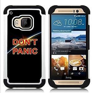 """Pulsar ( Dont Panic Tierra Planet Cosmos Universo"""" ) HTC One M9 /M9s / One Hima híbrida Heavy Duty Impact pesado deber de protección a los choques caso Carcasa de parachoques"""