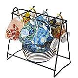 Vincent Van Gogh Bone China Tea Cup and Saucer Set With Gift Box, 8-Ounce Art Coffee Mugs Set (Set of 6)