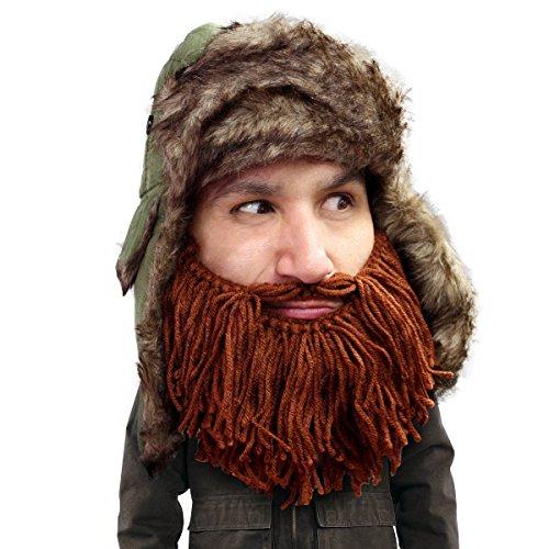Beard Head Barbarian Trapper Beard Hat - Faux