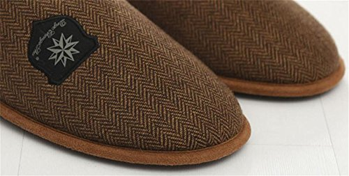 Pattern Shock 45 Checkered Lining with W Brown amp; slip House Comfy Anti Slippers Bedroom Slippers Soft Shoes XYMen Absorption gnW6UqWX