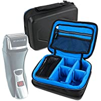 Protective EVA Shaver / Sharing Case (in Blue) - Compatible with Remington F7800 Dual Foil Shaver- by DURAGADGET