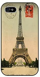 iPhone 5C Eiffel Tower, 1909 vintage postcard - black plastic case / Paris, France