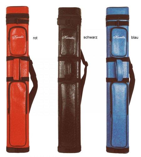 Original Köcher Karella 3/5 Billard Queue Tasche - ein Klassiker, Farbe:rot