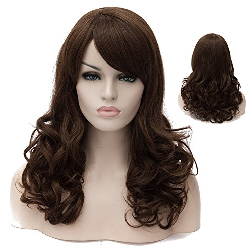 Lolita Median Long Small Curly Hair Cosplay Wig with Oblique Bangs Japan COS Anime Costume Party Wigs 18