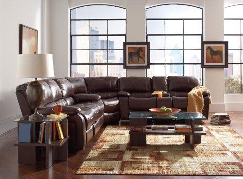 Coaster Home Furnishings 600357B4 Casual Sectional Sofa, Brown