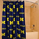 College Covers Michigan Wolverines Printed Shower Curtain Cover, 70 by 72''