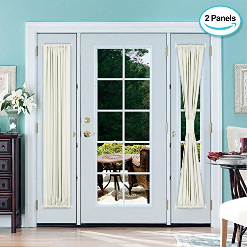 door panel curtains double rod - 1