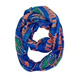 NCAA Florida Gators Sheer Infinity Scarf, One Size, Blue