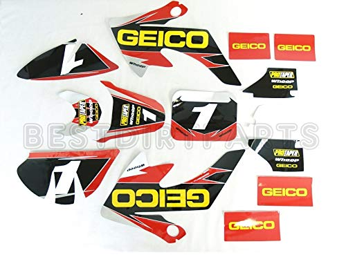 GEICO GRAPHICS DECAL STICKERS KIT CRF50 CRF 50 F 2004-2014 SDG SSR