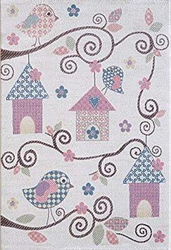 Pergamon Softstar Kids 5 tama/ños Alfombra Infantil y de Juego Motivo de Animales Color Pastel