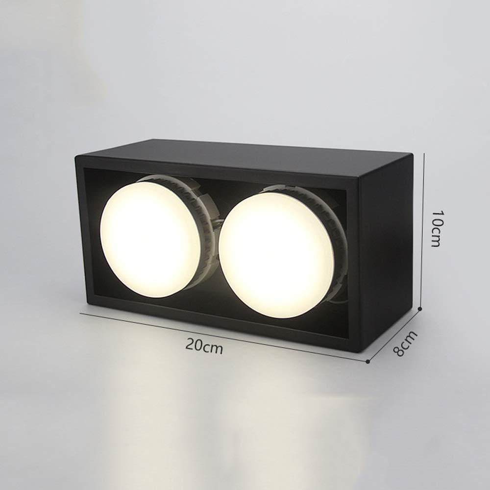 HviLit 2 Pack 7W Cuadrado LED Superficie Montado Panel Downlight ...
