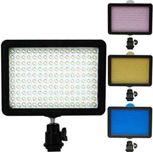 Light Video Studio 160 LED Lights Kit Lighting Camera DSLR DV Camcorder (Mini Dv Camcorder Head Cleaner)