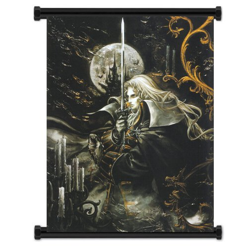 Castlevania Symphony of the Night Game Fabric Wall Scroll Po