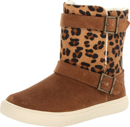 Polo Ralph Lauren Kids Brodie Boot (Toddler),Snuff Suede/Leopard Haircalf,8.5 M US Toddler
