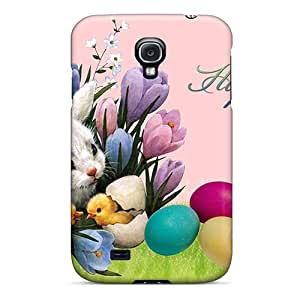 Galaxy S4 Cover Case - Eco-friendly Packaging(easter Bunny Friends)