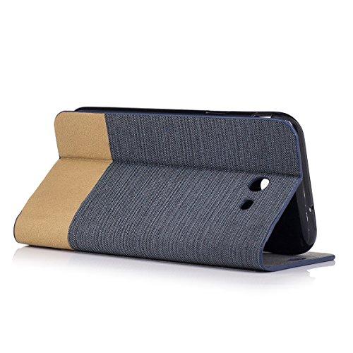 Funda Samsung Galaxy J3 (2017) Flip, Forhouse Prima Durbale Flip PU Cuero Billetera Carcasa Caso con [Función de Soporte] [Ranuras para Tarjetas] [Protectora Caja del Teléfono] Anti-Choques Anti-Gota  Gris Oscuro