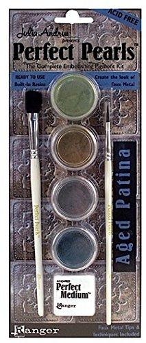 Ranger Perfect Pearls Complete Embellishing Pigment Kits (Aged Patina) 1 pcs sku# 1844209MA